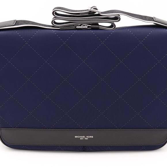 c5d38aa67d9e Michael Kors Bags | Mens Odin Blue Quilted Messenger Bag | Poshmark